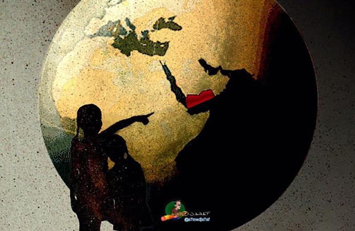 Yemen'deki savaşa karikatürlü direniş