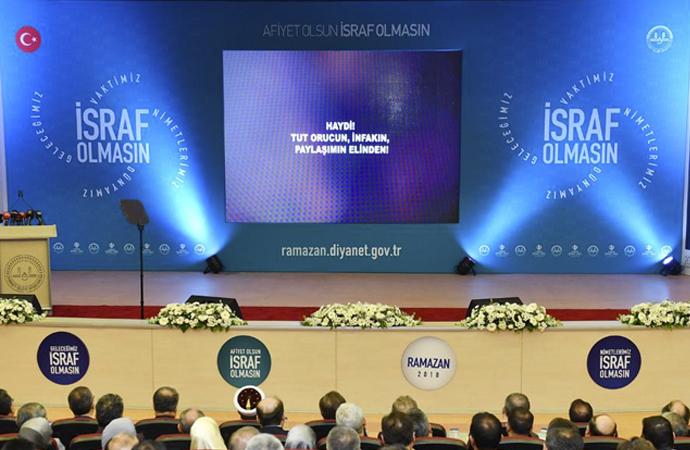 Diyanet'in 'Ramazan Tema'sı: Afiyet Olsun, İsraf olmasın
