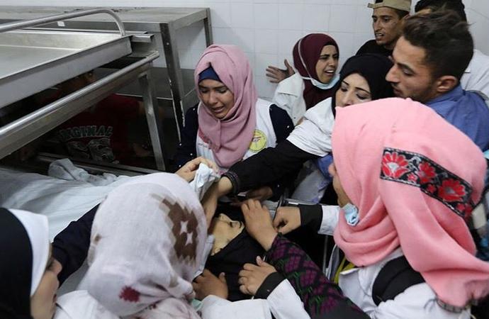 Filistin'den açıklama: Neccar kasten vuruldu