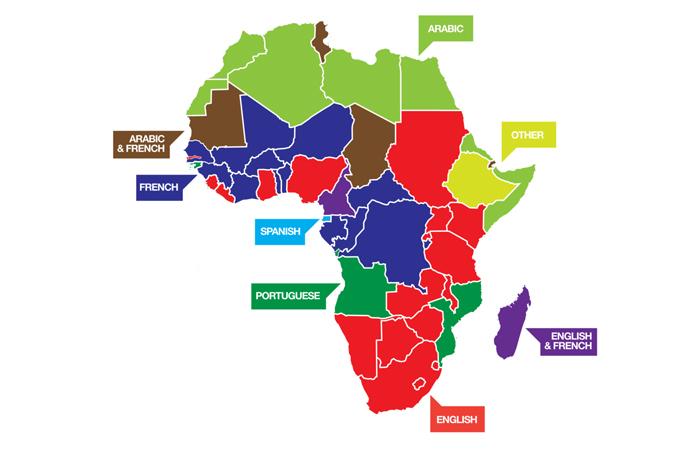 Afrika'da 'iş' için hangi diller kullanılıyor?
