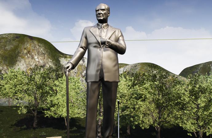 Ak Partili Belediye'den Balıkesir'e dev Atatürk heykeli