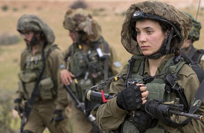 Siyonist ordusunda Türk kadın asker!