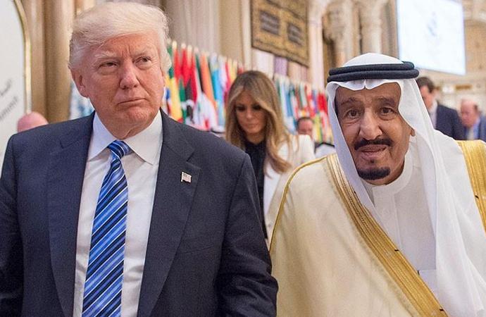 Trump'tan Kral Selman'a: Biz olmasak 2 hafta bile dayanamazsın