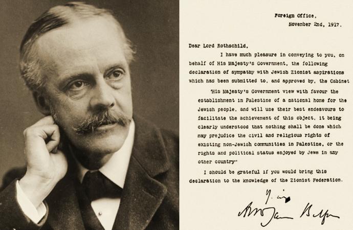 İngiliz-Siyonist işbirliği: Balfour deklarasyonu