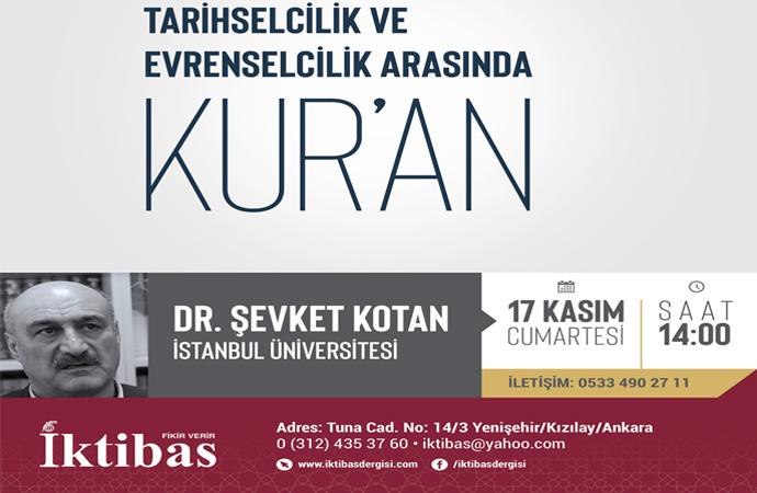 Dr. Şevket Kotan bugün İktibas'a konuk oluyor