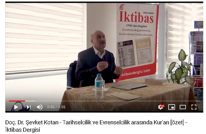 Doç.Dr. Şevket Kotan: Tarihselcilik ve Evrenselcilik arasında Kur'an (özet)
