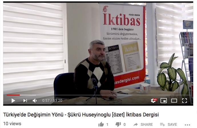Şükrü Hüseyinoğlu: Türkiye'de Değişimin Yönü (özet)
