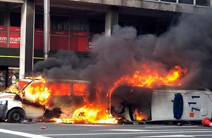 Brüksel'deki protestolar AB kurumlarının önüne sıçradı