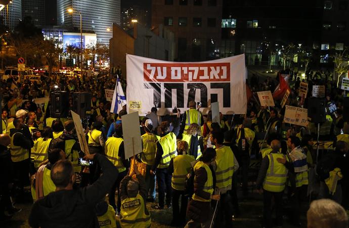 İsrail'de ortaya çıkan 'sarı yelekliler' pahalılığı protesto etti