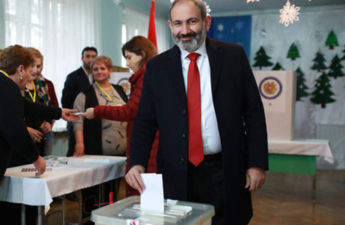 Ermenistan'da seçimlere katılım yüzde 48'de kaldı
