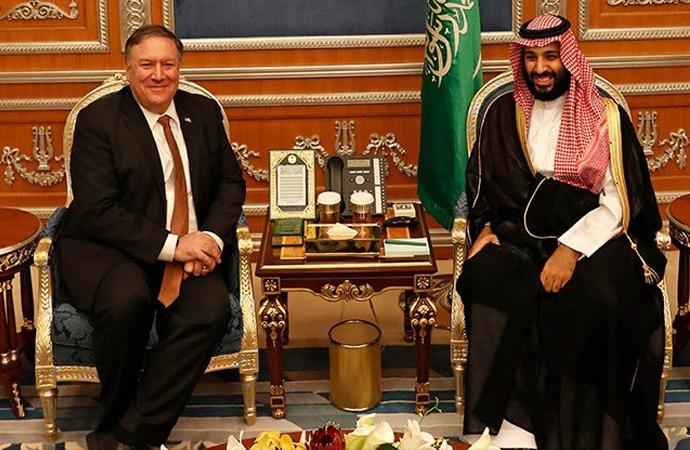 Pompeo, BAE'den sonra Suudi sarayında