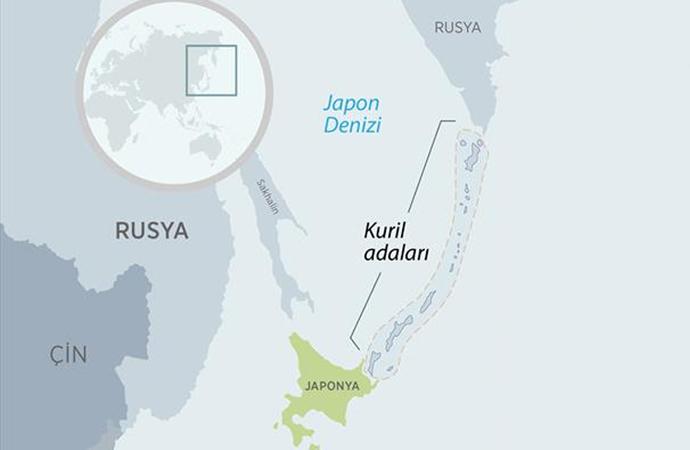 İki ülkenin, Kuril adalarında egemenlik mücadelesi