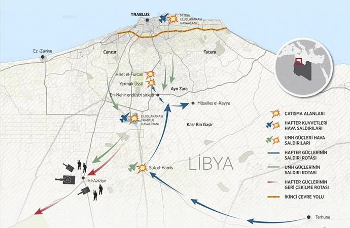 Libya'da bir haftadır çatışma devam ediyor