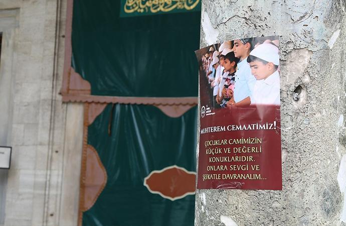 İstanbul Müftülüğünden 'Çocuklara hoşgörü' afişi