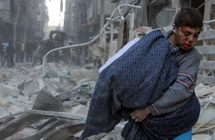 Dünyanın çatışma bölgelerinde420 milyon çocuk
