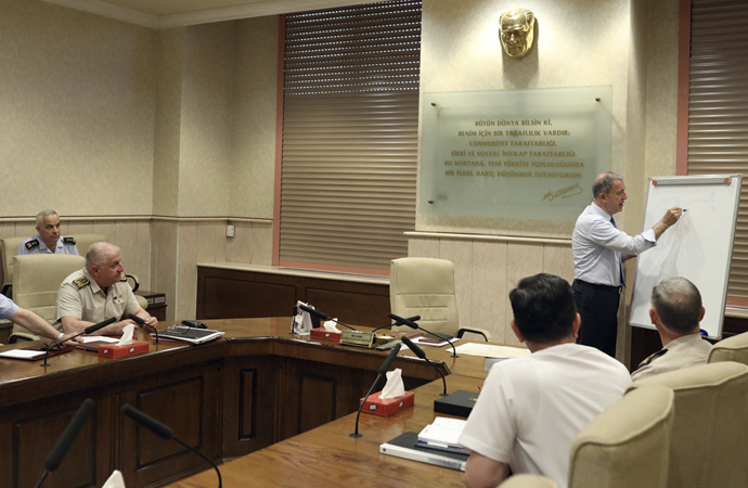 ABD ile görüşmelerin ardından karargahta toplantı