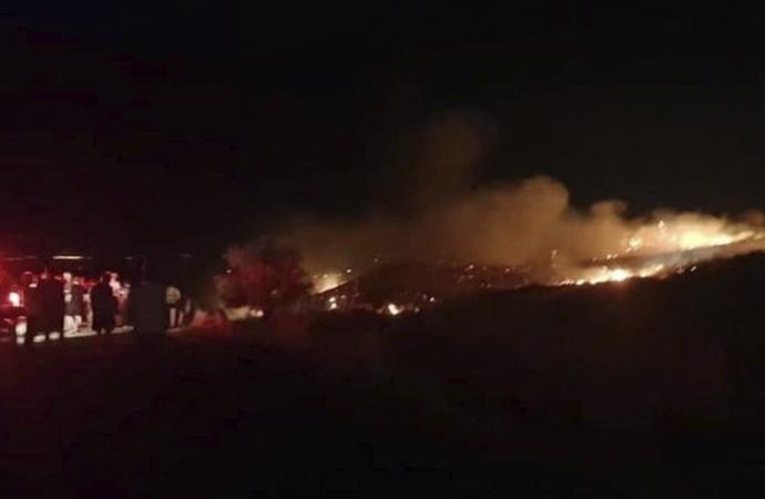 KKTC'de patlama ve yangın