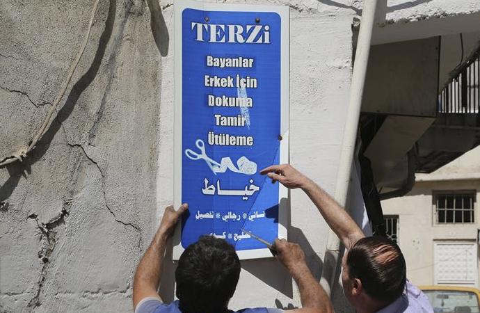 Şanlıurfa'da Arapça tabelalar kaldırıldı