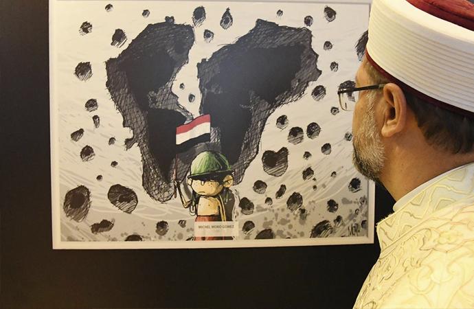'Çizgilerle Yemen' sergisi