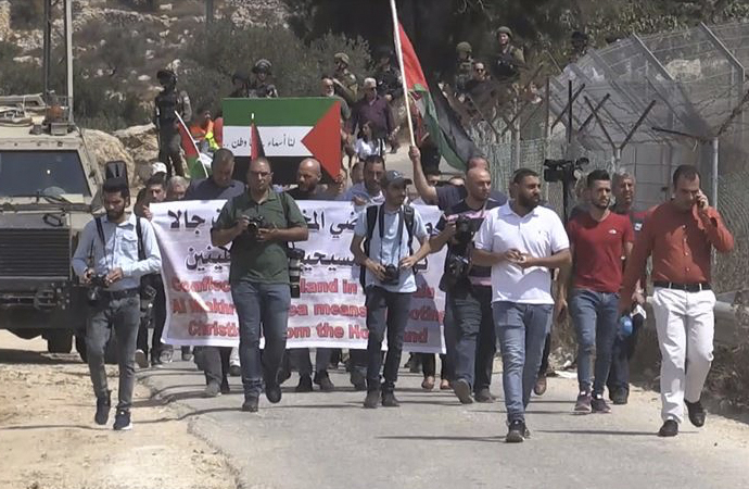 Yahudi yerleşimcileri protesto yürüyüşü