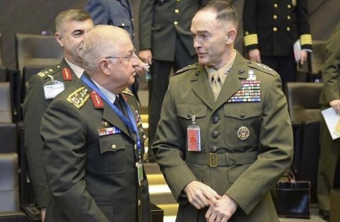 Amerikalı komutanla 'Güvenli Bölge' görüşmesi