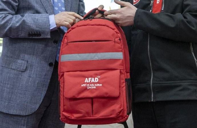 AFAD'dan 'afet çantası' önerisi