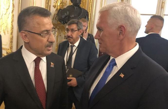 Varşova'da Fuat Oktay-Mike Pence görüşmesi
