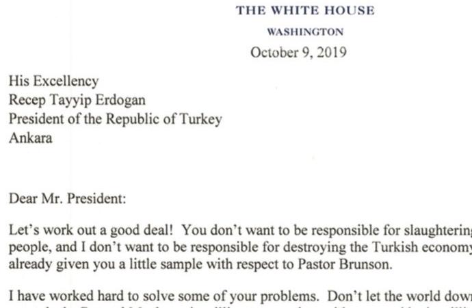 Trump'tan skandal mektup iddiası