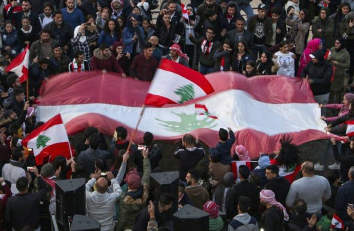 Gösteriler, Baalbek bölgesinde de başladı