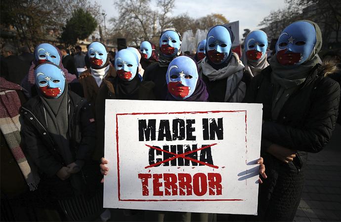 Çin zulmü Türkiye çapında protesto edildi