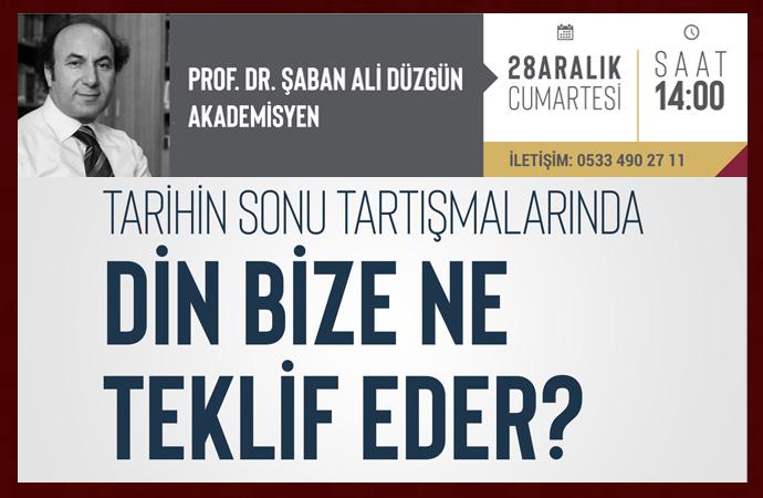 Prof.Dr. Şaban Ali Düzgün bu hafta sonu İktibas'ta