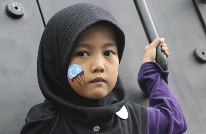 Uygurlara Çin zulmü Endonezya'da protesto edildi