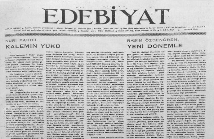 1960'lı Yılların Gölgesinde Edebiyat Dergisi ve Düşünce Dünyası