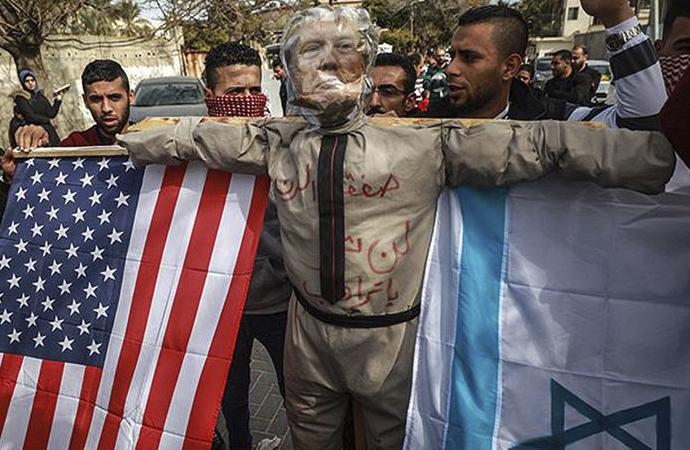 ABD-İsrail planı Gazze'de de protesto edildi