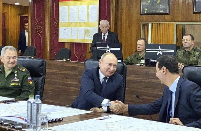 Putin Esed'i Rus karargahında kabul etti!