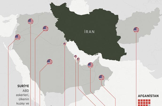 Gözler ABD'nin İran çevresindeki askeri üslerinde