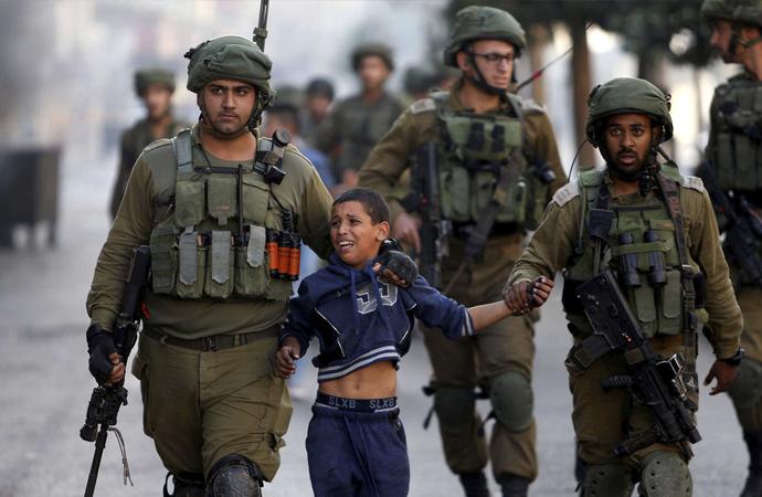 2019 yılı içinde İsrail 880 Filistinli çocuğu tutukladı