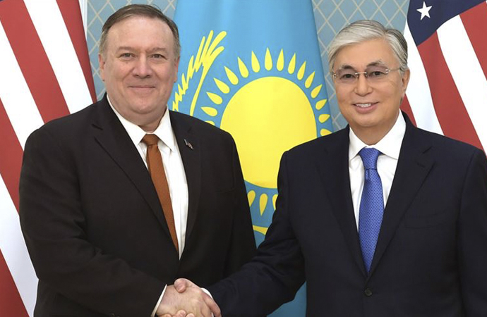 ABD Dışişleri Bakanı Pompeo Kazakistan'da