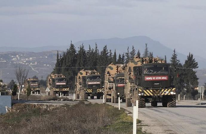İdlib'deki gözlem noktalarına obüs ve mühimmat sevkiyatı