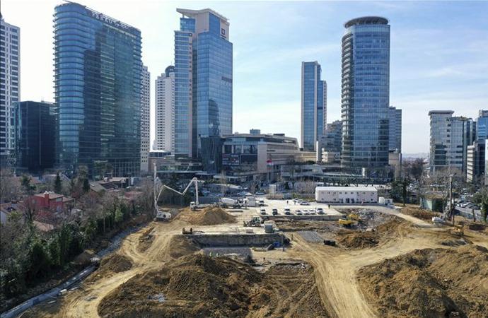 İstanbul Levent'te yeni cami inşaatı başladı