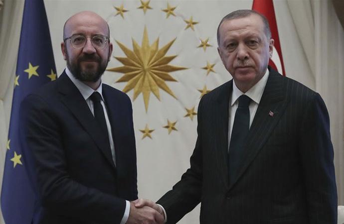 Cumhurbaşkanı Erdoğan, Avrupa Birliği Konseyi Başkanı Michel'i kabul etti