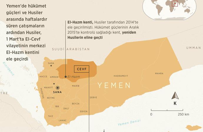 Yemen'de Husiler Suudi Arabistan sınırına dayandı