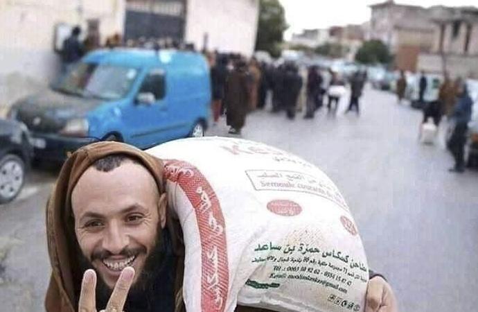 Cezayir'de un çuvalları için izdiham iddiası