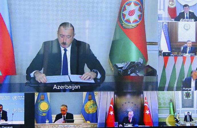 Türk Konseyi Liderleri 'Olağanüstü Zirve'de bir araya geldi
