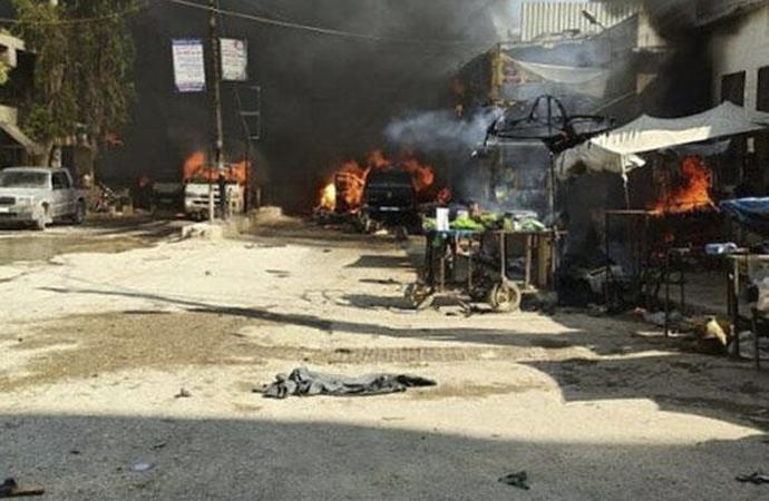 Afrin'de bomba yüklü tankerle terör saldırısı: 11'i çocuk 40 kişi hayatını kaybetti