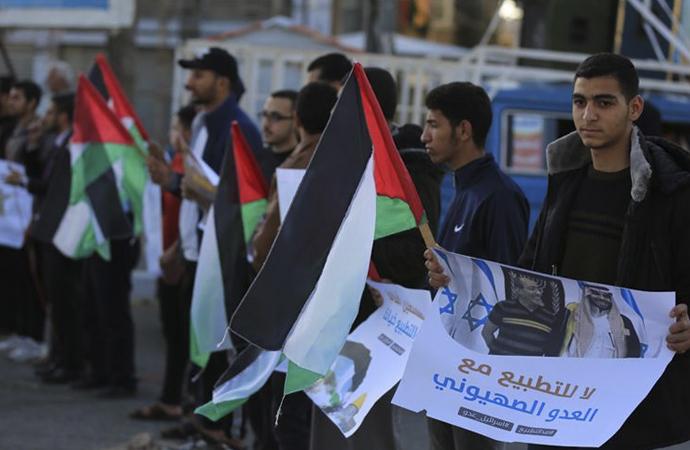 Diziler üzerinden 'İsrail'le normalleştirme' girişimleri Gazze'de protesto edildi