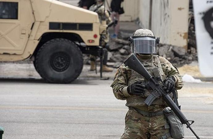 Amerika'nın 34 eyaletinde 43 binden fazla ulusal muhafız görevde