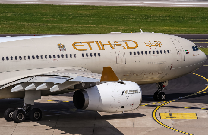 BAE'ye ait Etihad Airways bir kez daha İsrail'e indi