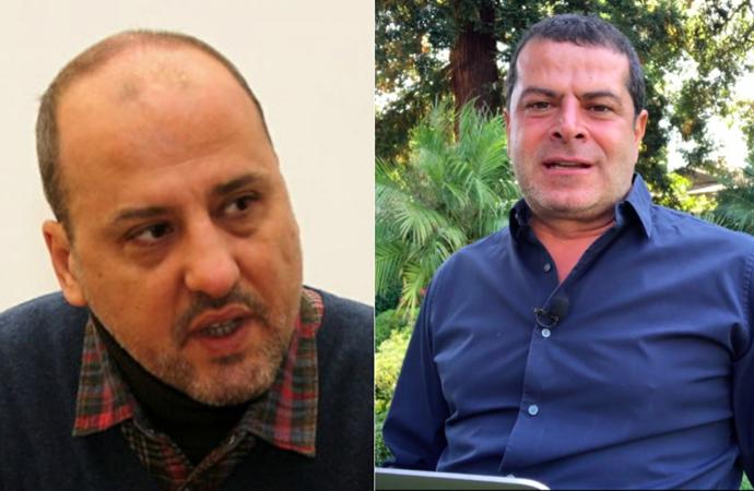 """Ahmet Şık ve Cüneyt Özdemir birbirine girdi; """"Buradan ekmek çıkmaz artık sana"""""""