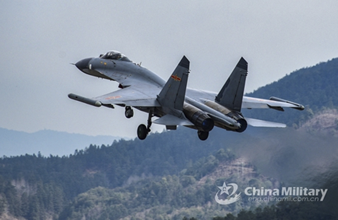 Çin savaş uçakları Tayvan hava sahasında uçtu